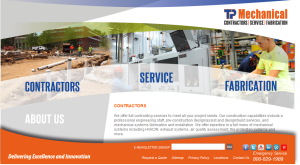 Home page for TP Mechanical Website