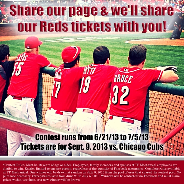 Connect with us on Facebook win Reds tickets!