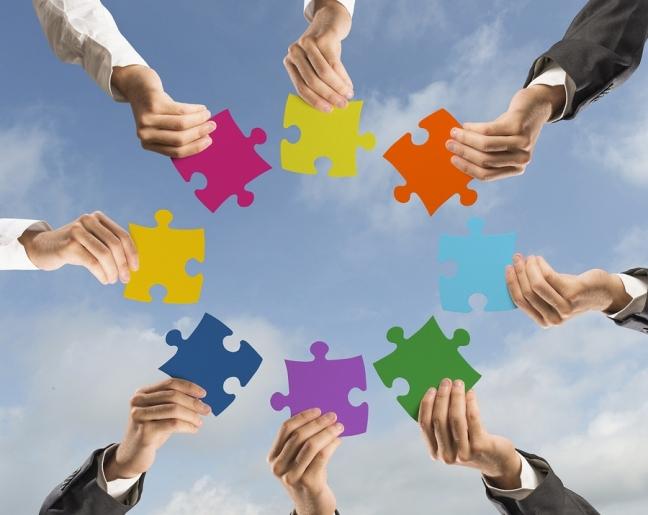 Teamwork And Integration Concept