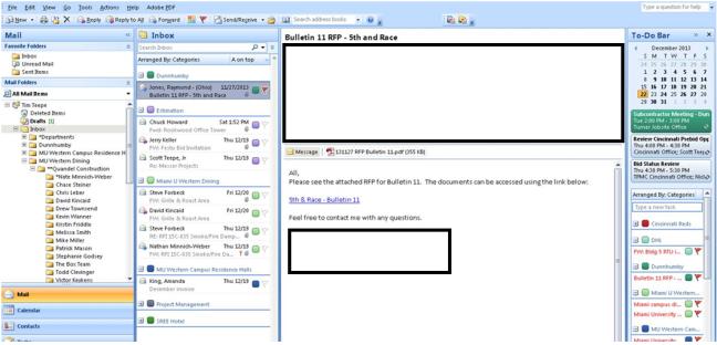 OutlookWorkFlowManagement
